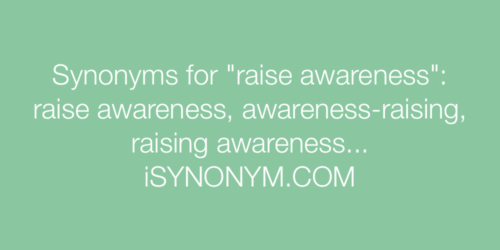 Synonyms raise awareness