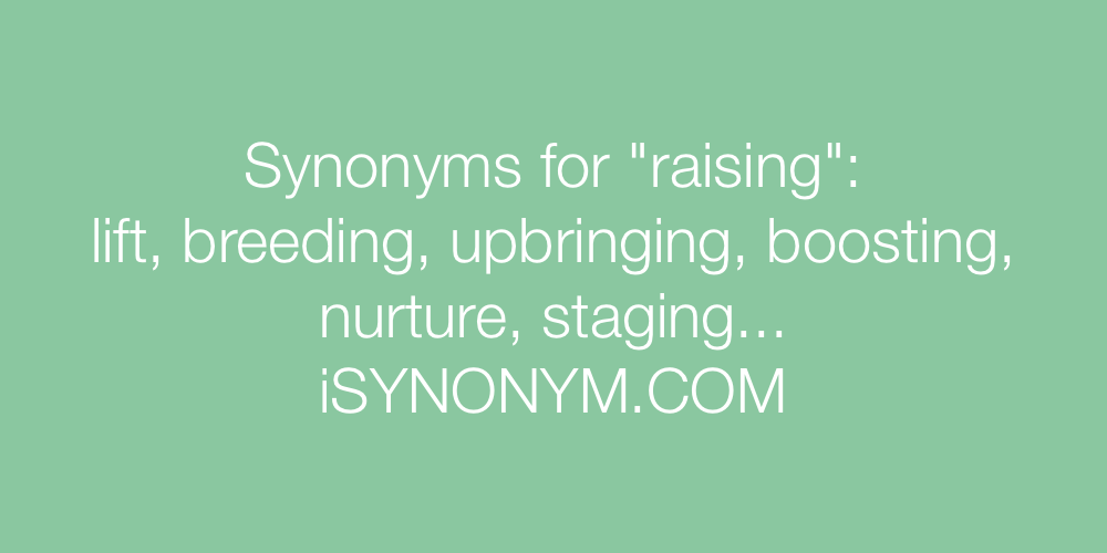 Synonyms raising