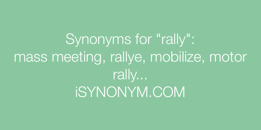 Synonyms rally