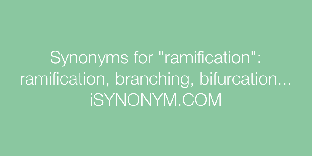 Synonyms ramification