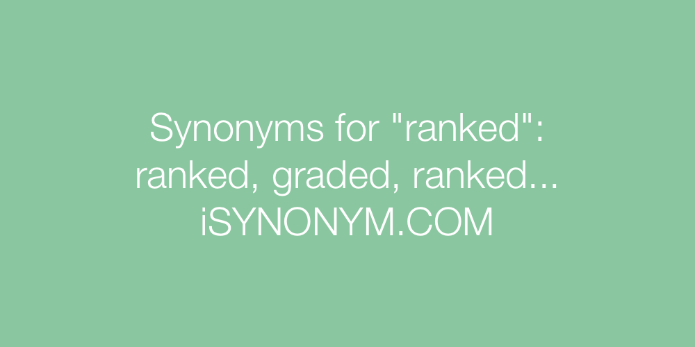 Synonyms ranked