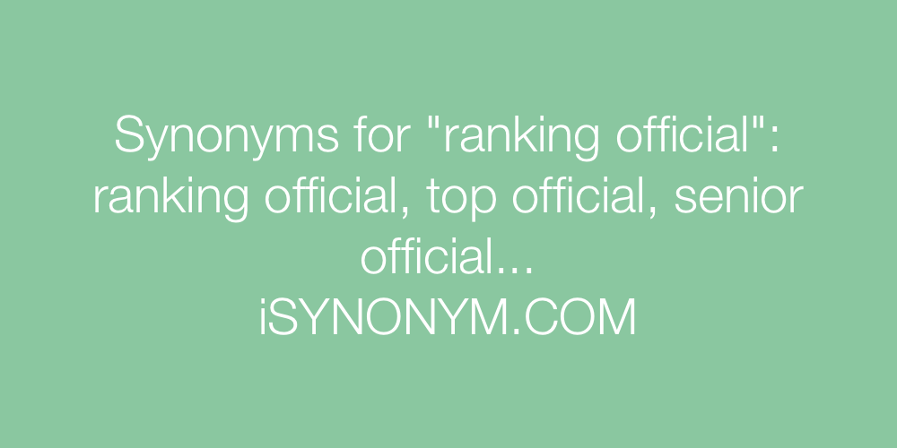 Synonyms ranking official