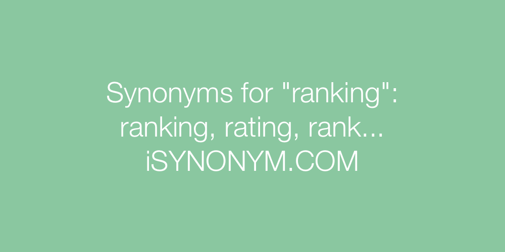 Synonyms ranking