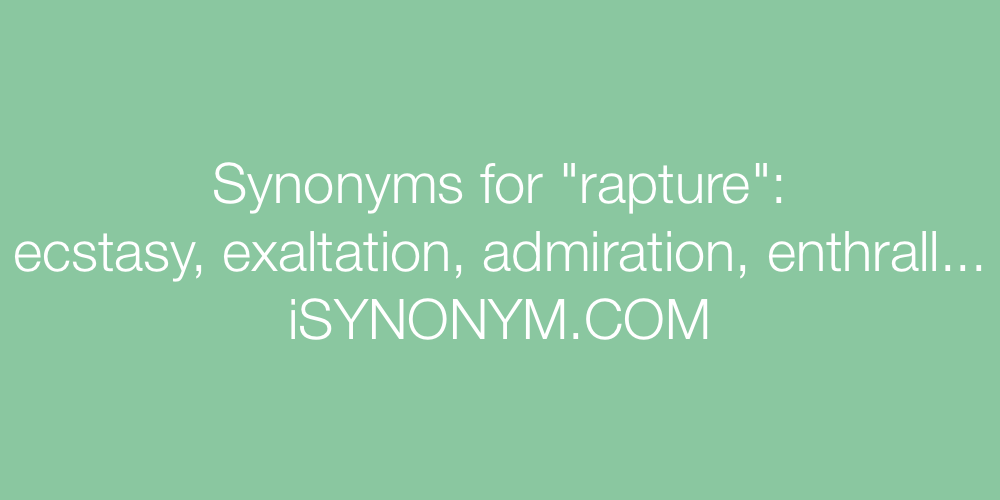 Synonyms rapture
