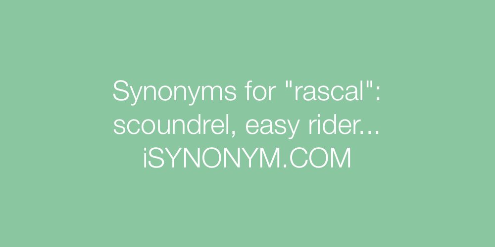 Synonyms rascal