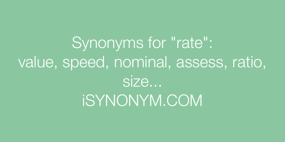 Synonyms rate