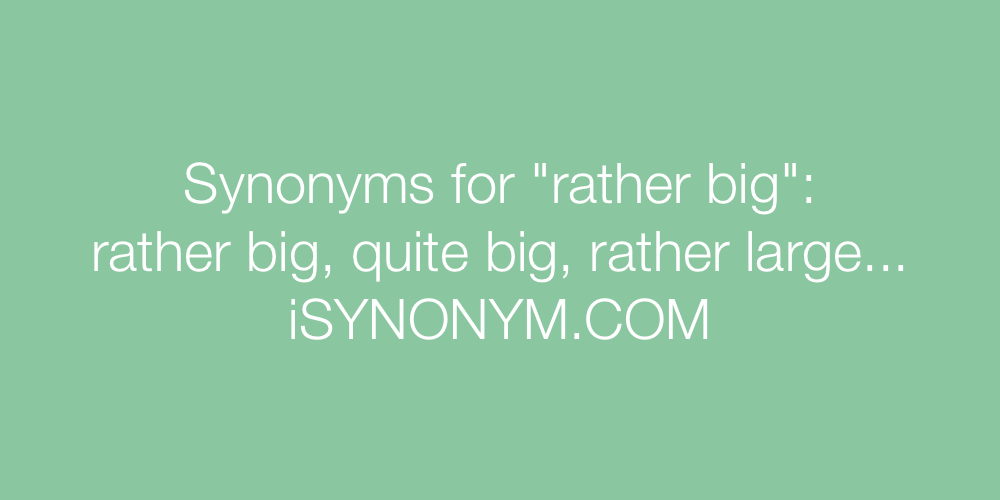 Synonyms rather big