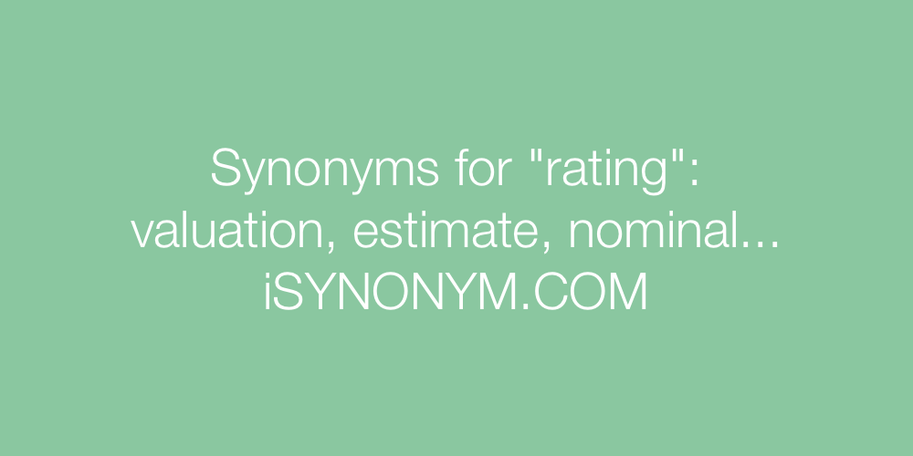 Synonyms rating