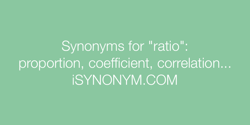 Synonyms ratio
