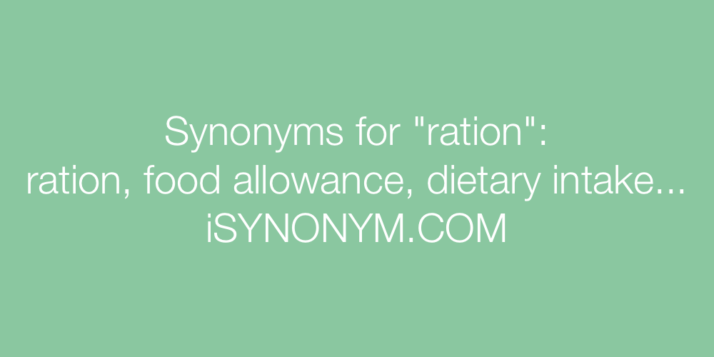 Synonyms ration