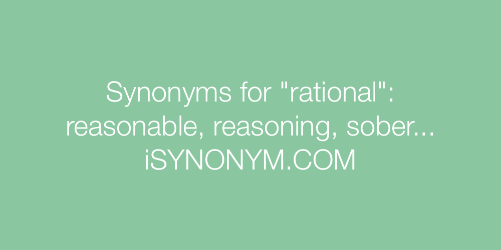 Synonyms rational