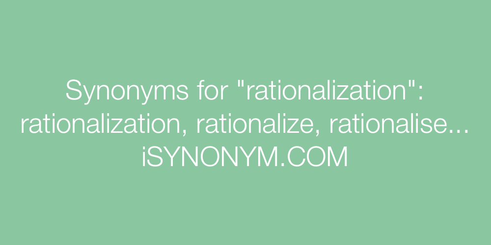 Synonyms rationalization