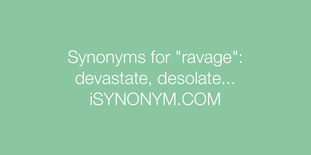 Synonyms ravage
