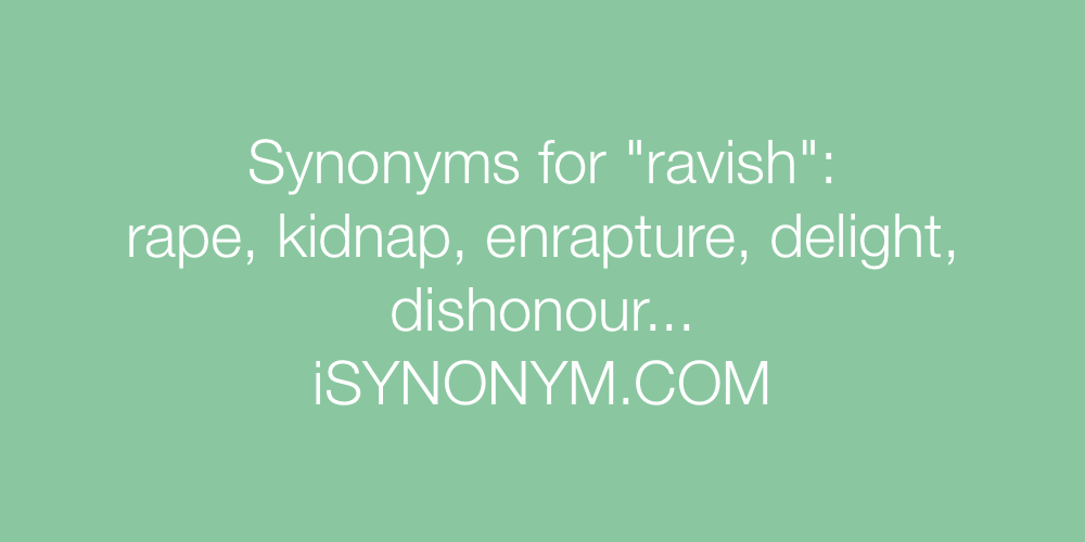 Synonyms ravish