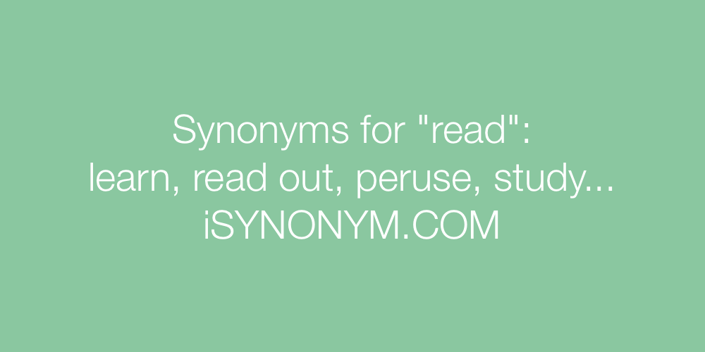 Synonyms read