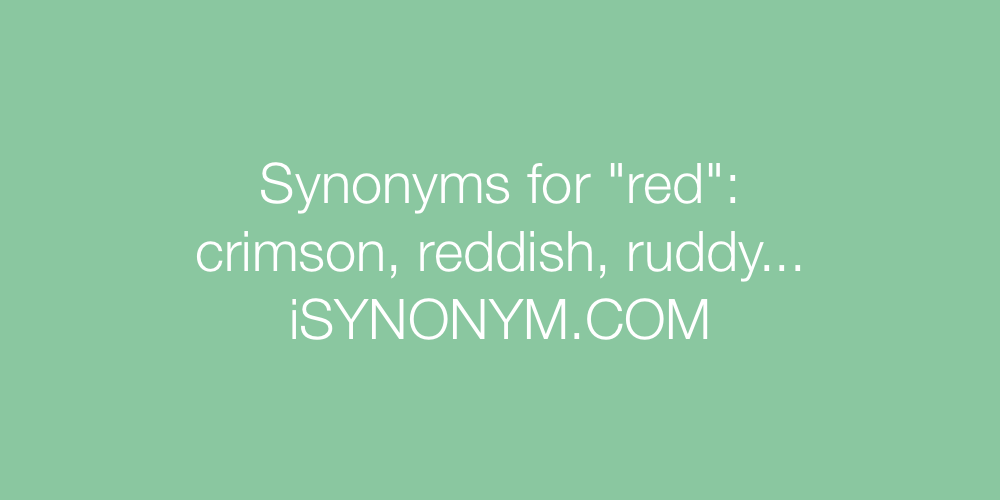 Variant does synonym for redhead think