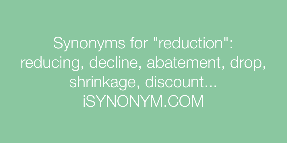 Synonyms reduction