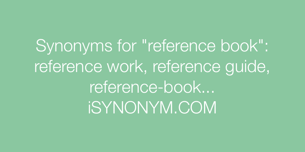 Synonyms reference book