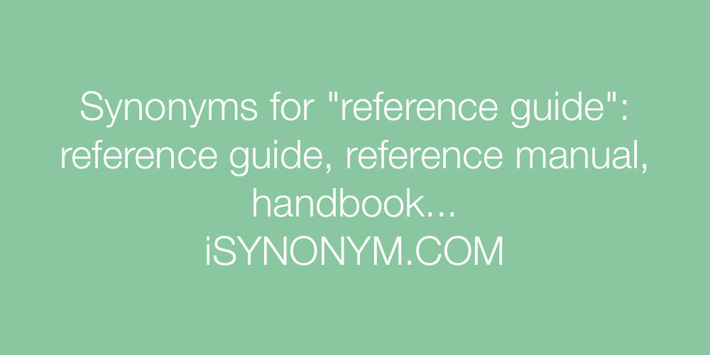 Synonyms reference guide