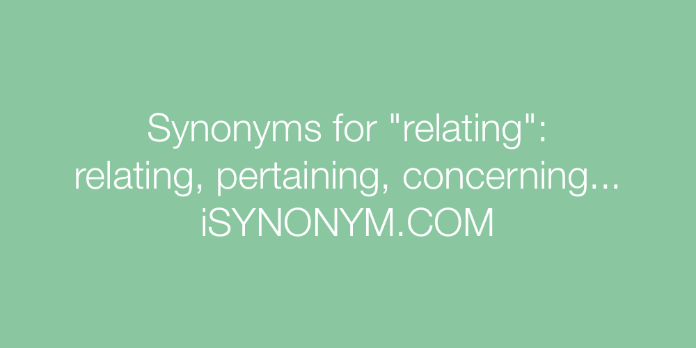 Synonyms relating