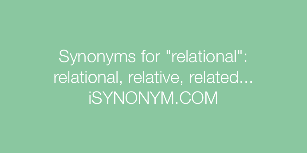Synonyms relational