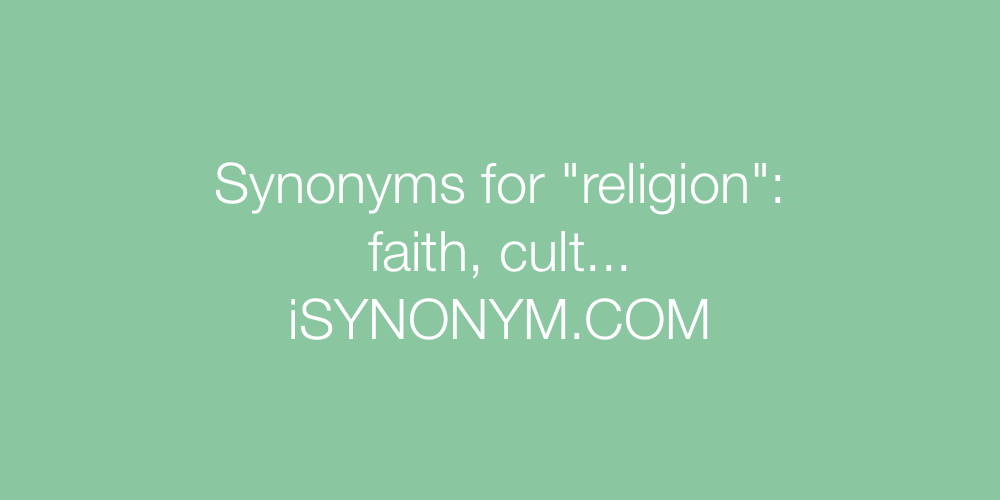Synonyms religion