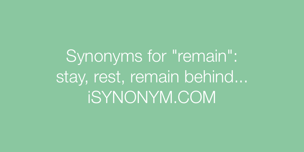 Synonyms remain