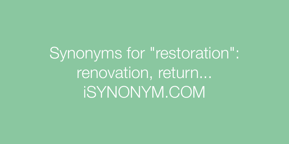 Synonyms restoration