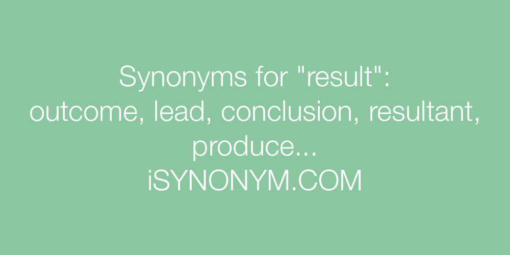 Synonyms result