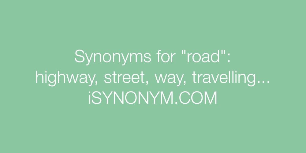 Synonyms road