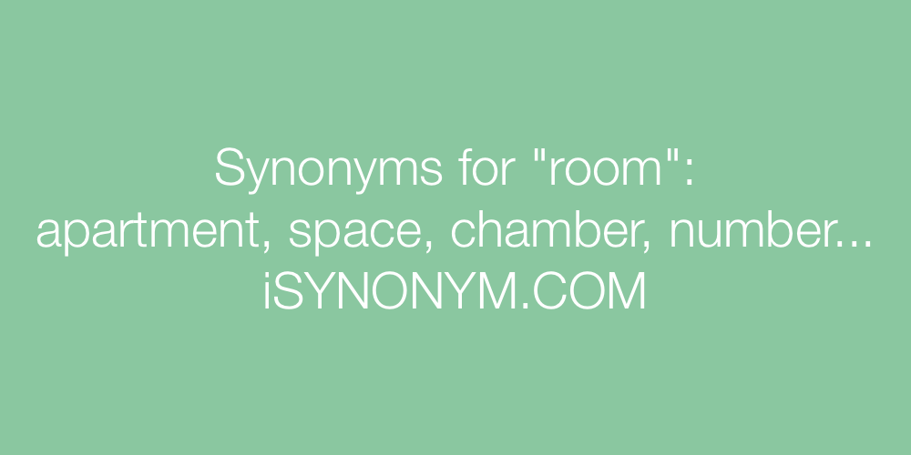 Synonyms room