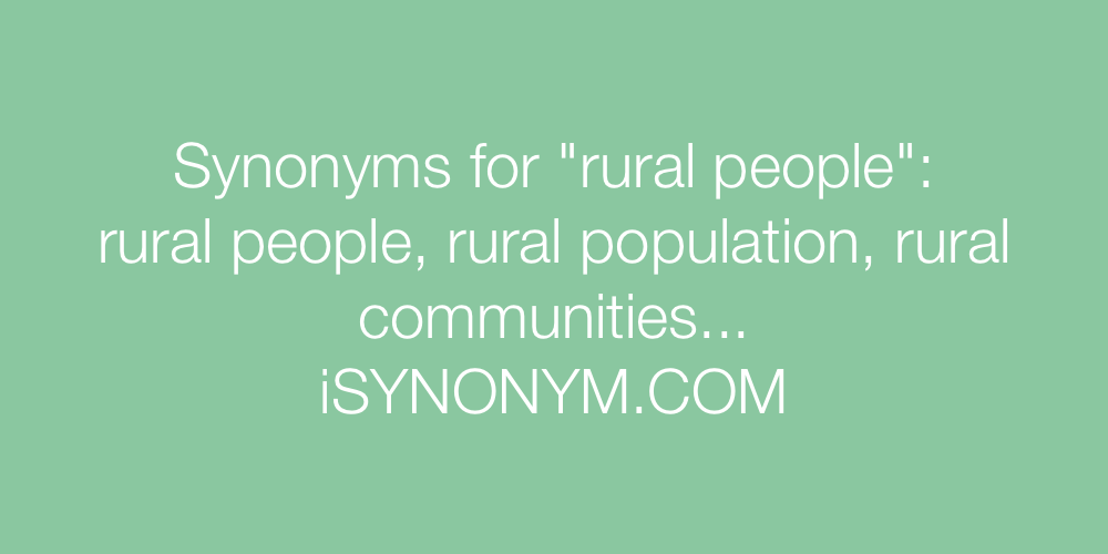 Synonyms rural people
