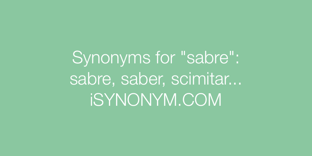 Synonyms sabre