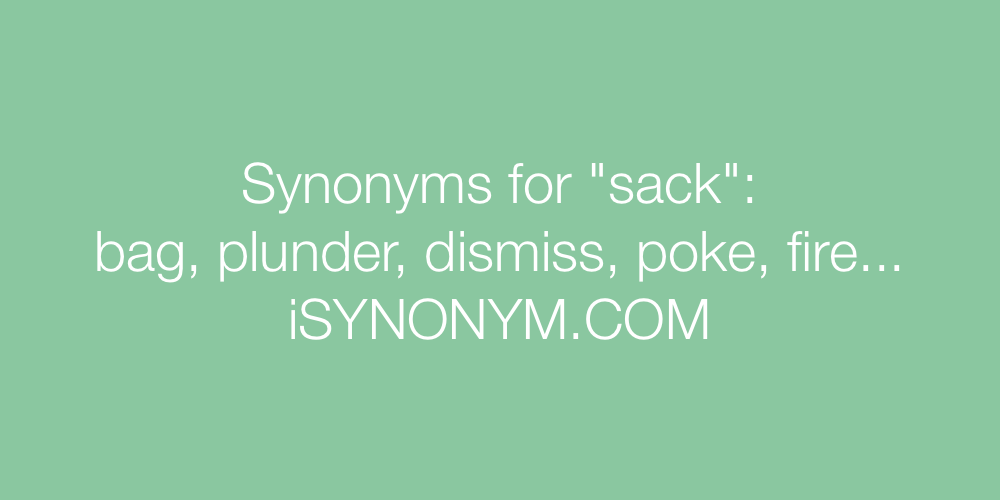 Synonyms sack