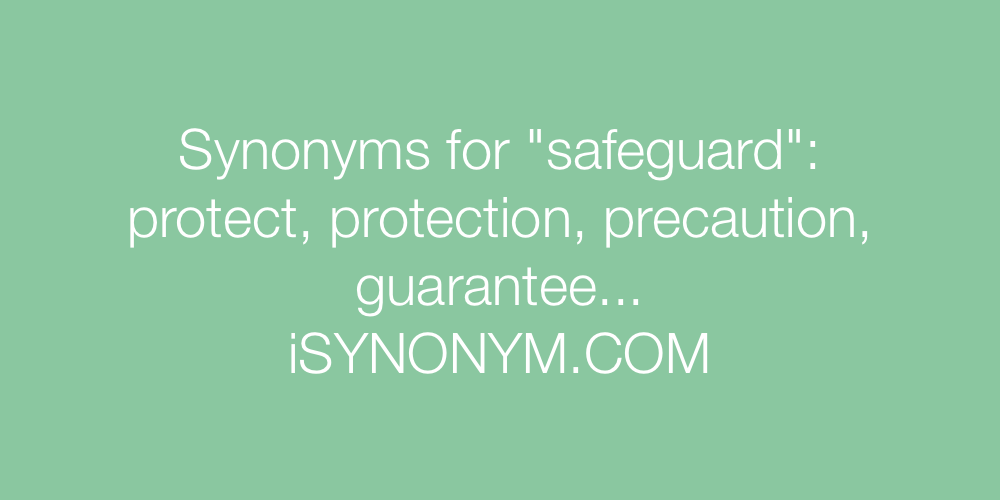 Synonyms safeguard