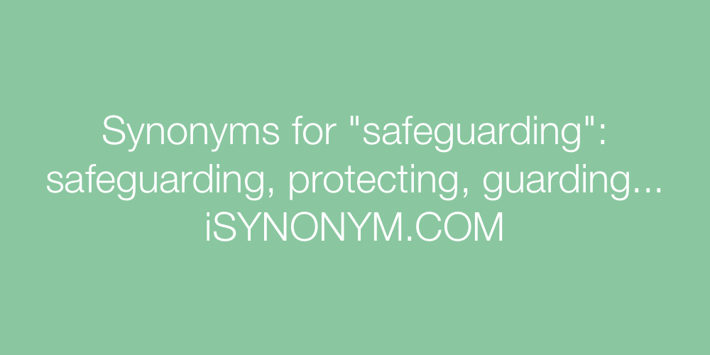 Synonyms safeguarding