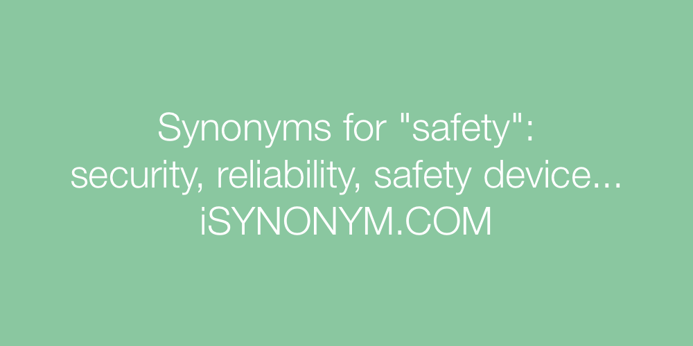 Synonyms safety