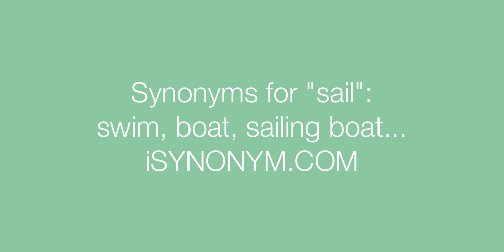 Synonyms sail