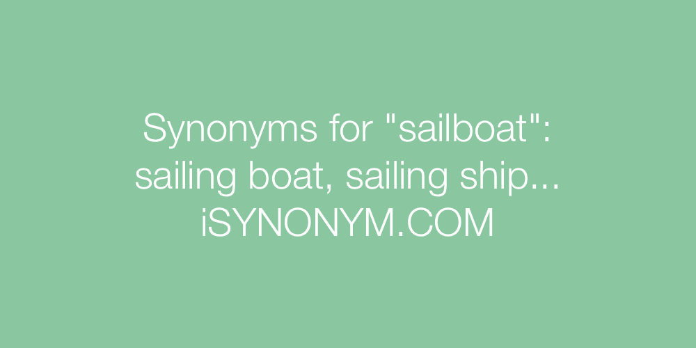 Synonyms sailboat