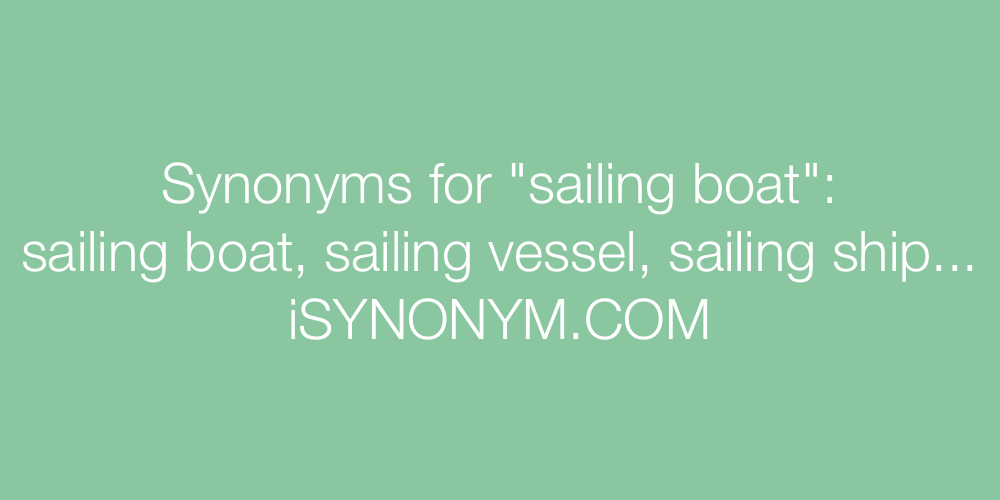 Synonyms sailing boat