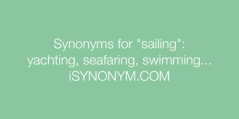Synonyms sailing