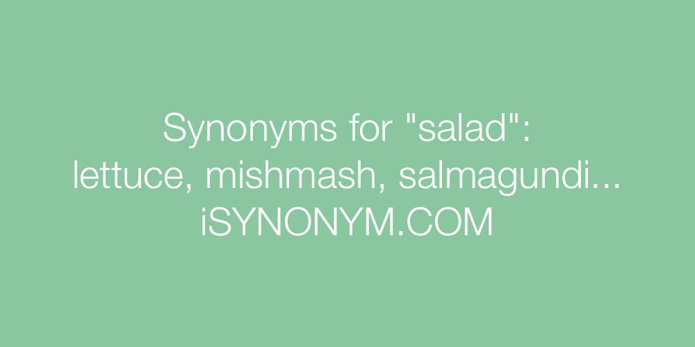 Synonyms salad