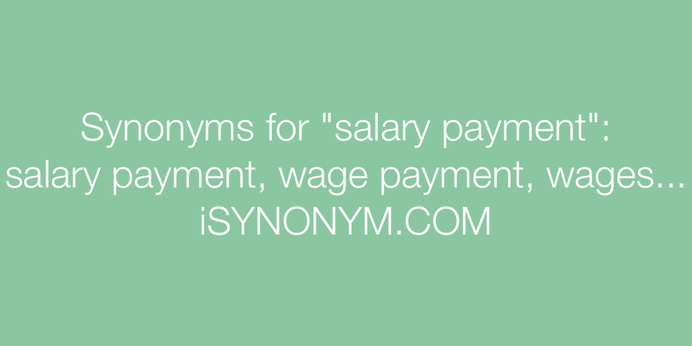Synonyms salary payment