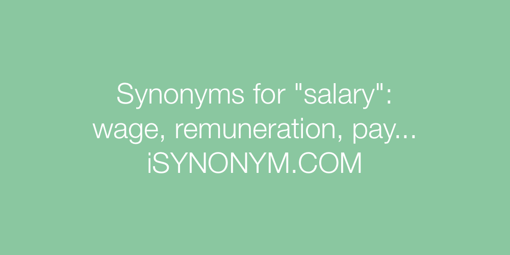 Synonyms salary