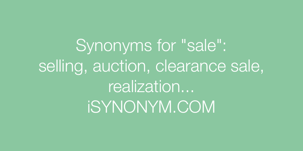 Synonyms sale