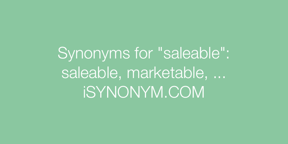 Synonyms saleable