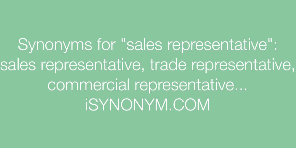Synonyms sales representative