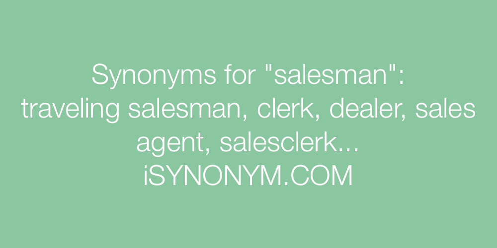 Synonyms salesman