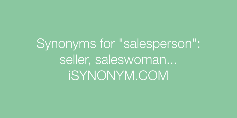 Synonyms salesperson