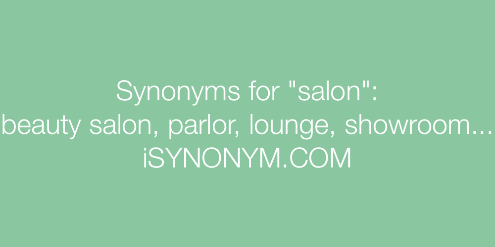 Synonyms salon